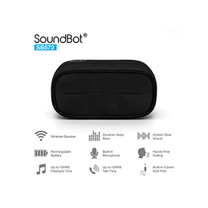 SoundBot SB572 HD bluetooth wireless 3W speaker