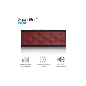 SoundBot SB571 12W Bluetooth wireless speaker (Red/Black)