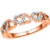 Jpearls Rose Gold Majestic Diamond Ring